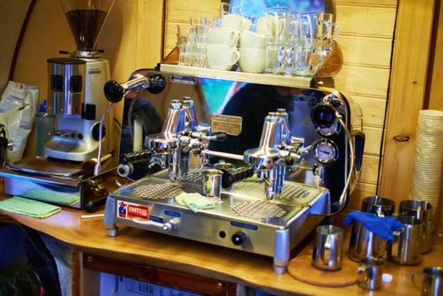 noble Kaffeemaschine, Kaffeewagen Ausstattung