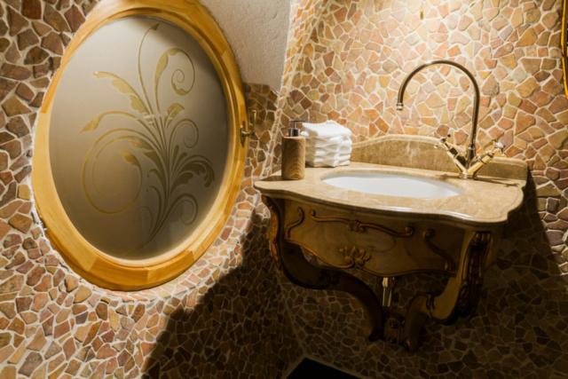 Mosaik Bad Kunstwaschbecken